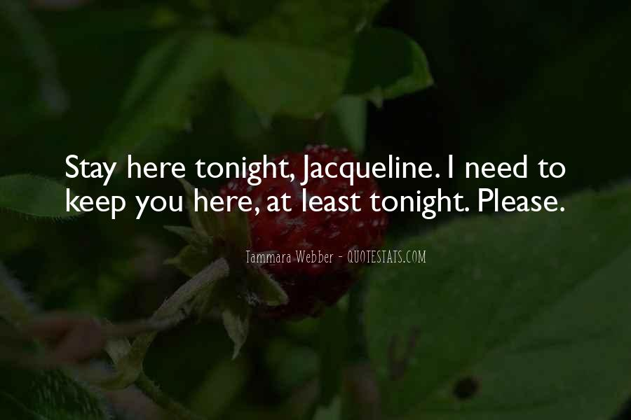 Stay With Me Tonight Quotes #1295492