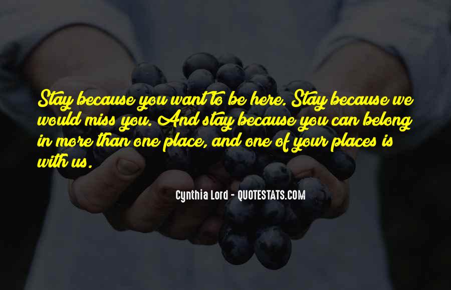Stay With You Quotes #87221