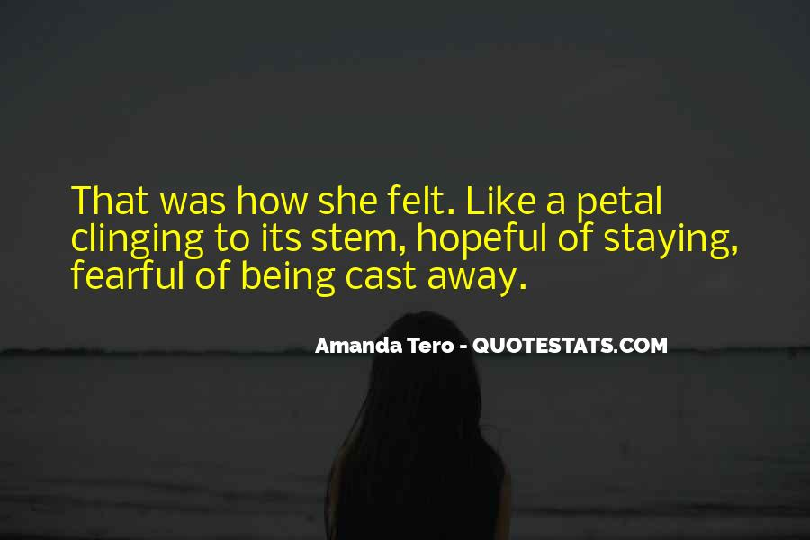 Staying Far Away Quotes #111753