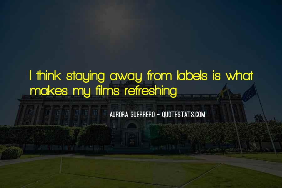 Staying Far Away Quotes #266575