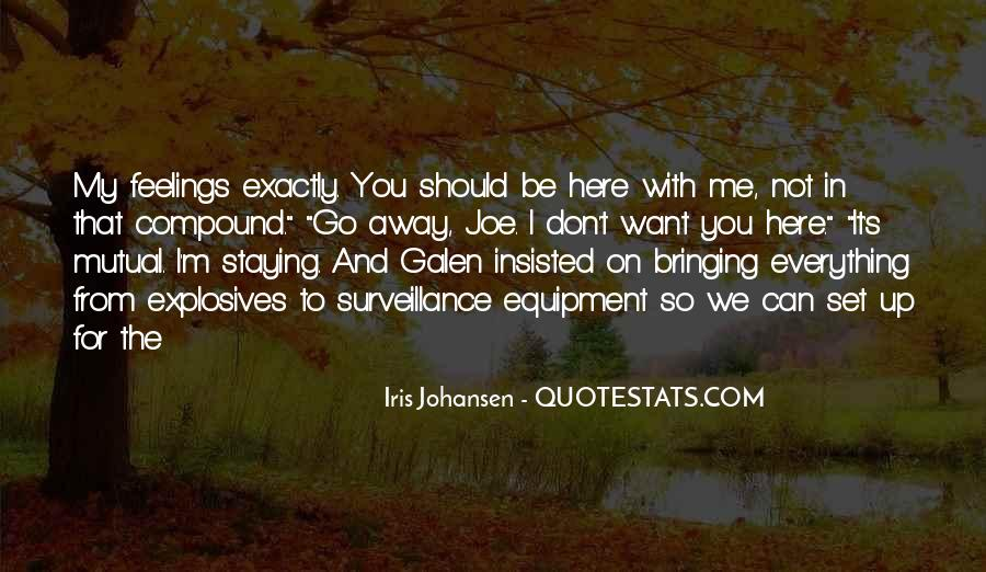 Staying Far Away Quotes #332694
