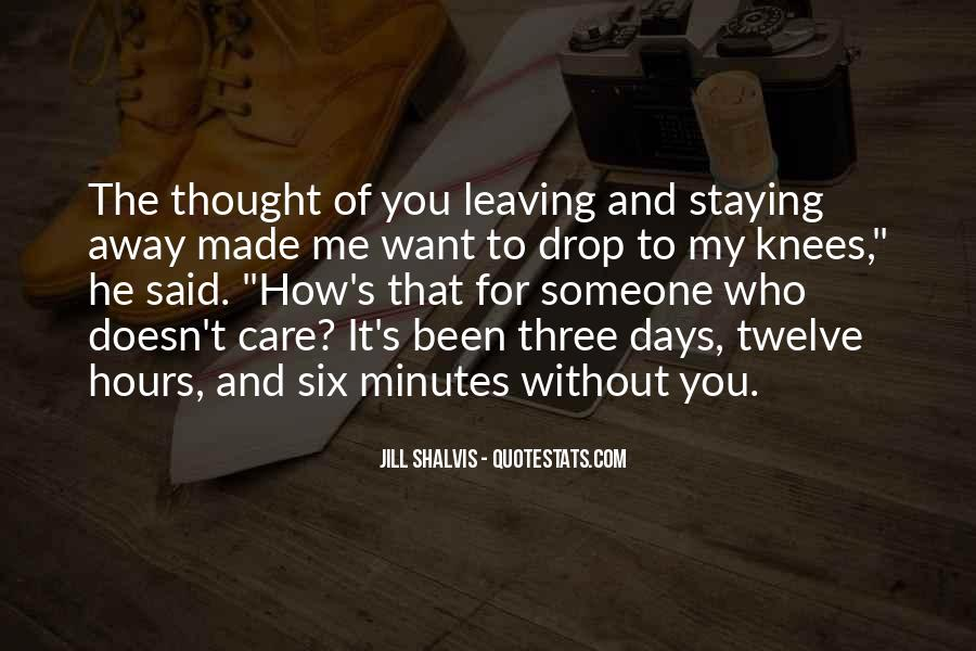 Staying Far Away Quotes #573084