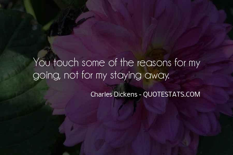 Staying Far Away Quotes #94932