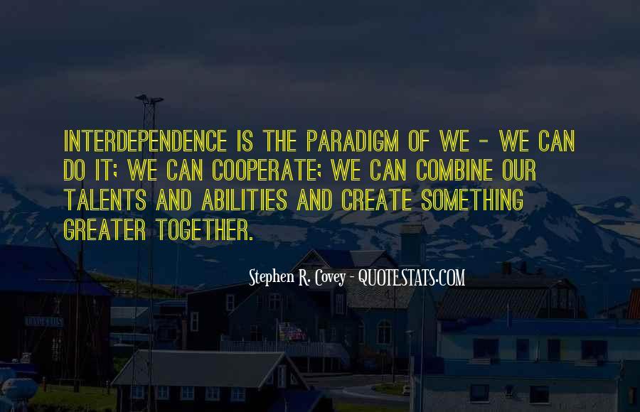 Stephen Covey Paradigm Quotes #689739