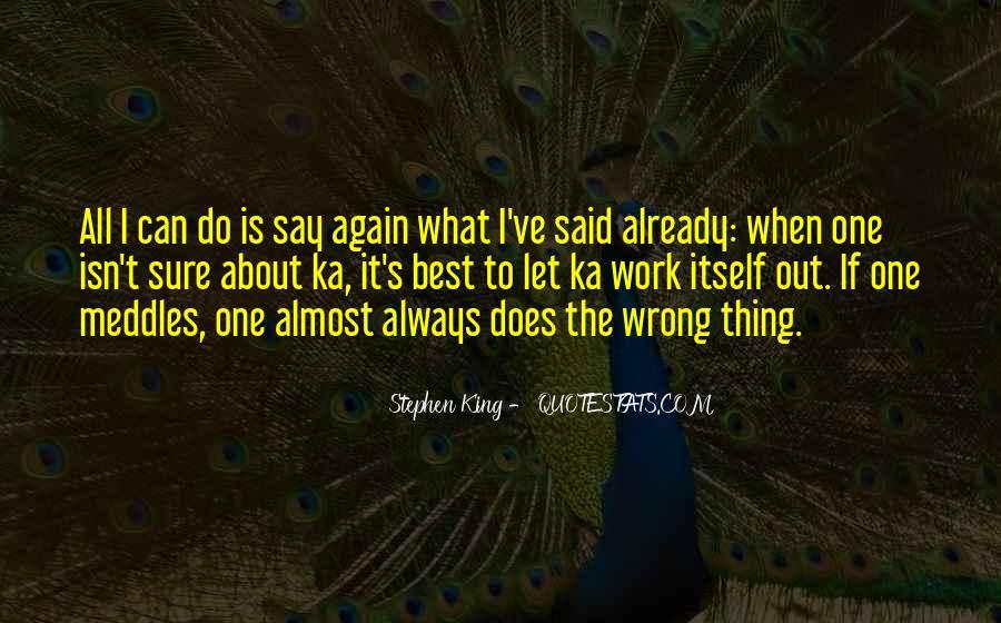 Stephen King Ka Quotes #996269