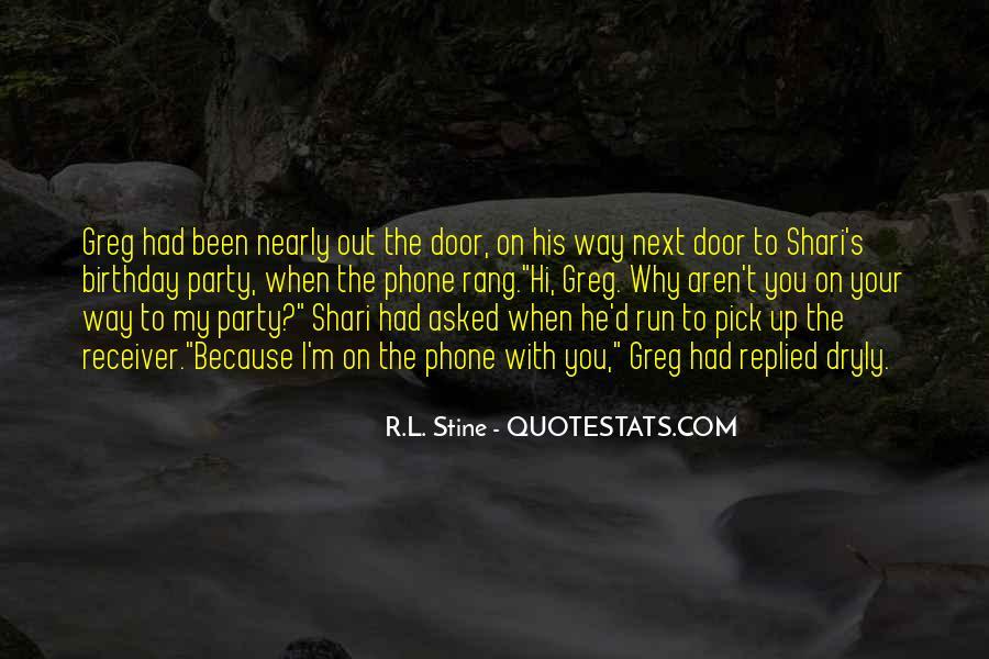 Stine Quotes #85136