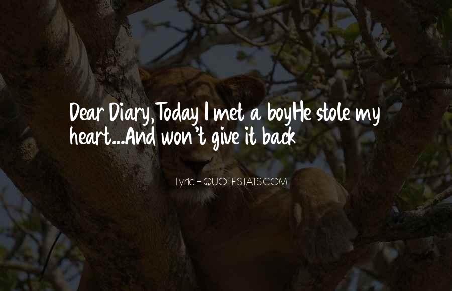 Stole Your Heart Quotes #78412