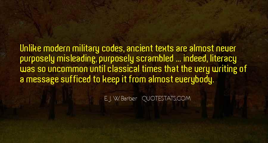 Quotes About Ancient Times #156308