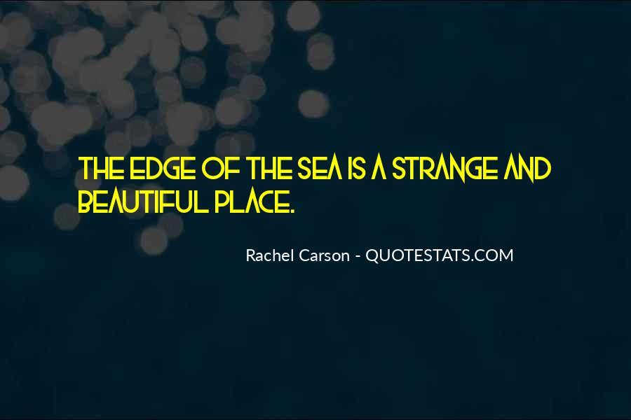 Strange But Beautiful Quotes #69757