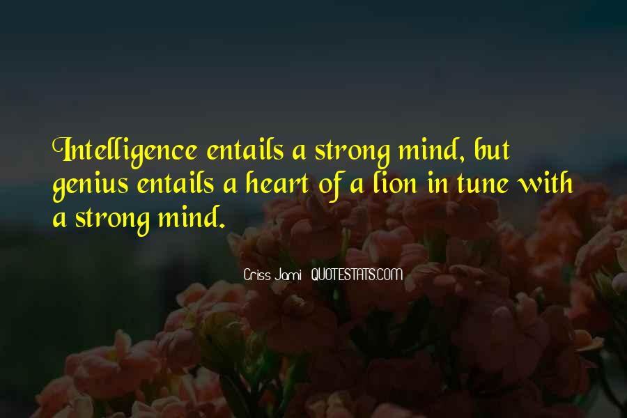 Strong Mind Quotes #27089