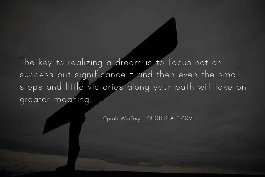 Success Small Steps Quotes #1838039