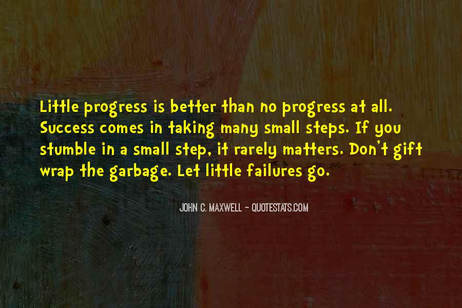 Success Small Steps Quotes #985252