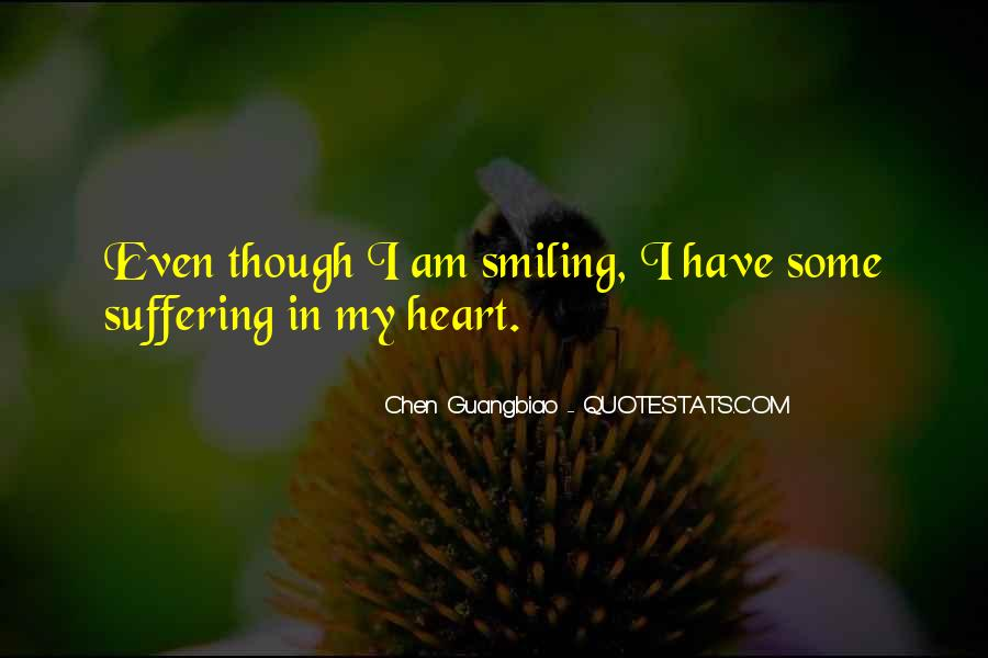 Suffering And Smiling Quotes #895909