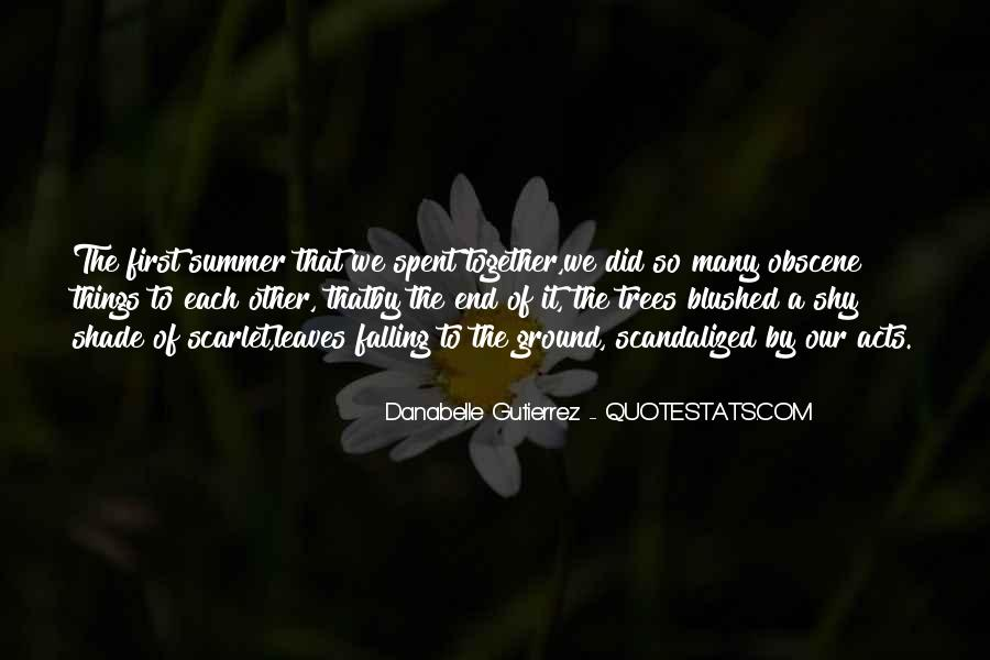 Summer Is Not Over Quotes #30971