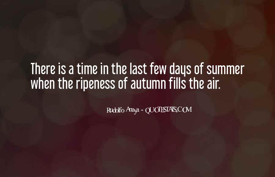 Summer Is Not Over Quotes #43183