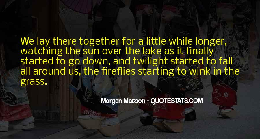 Sun Fall Quotes #313164
