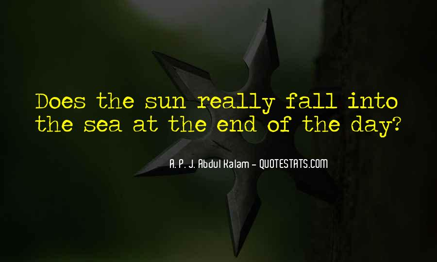 Sun Fall Quotes #585060