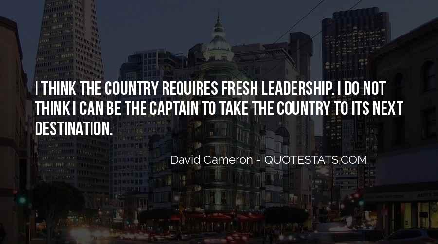Quotes About David Cameron #251349