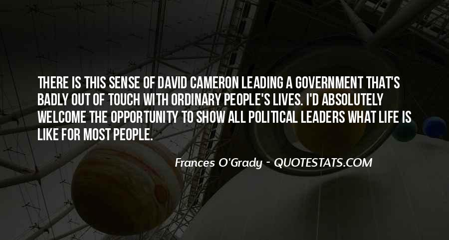 Quotes About David Cameron #299151