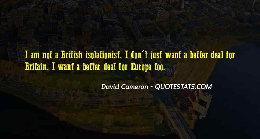 Quotes About David Cameron #773154