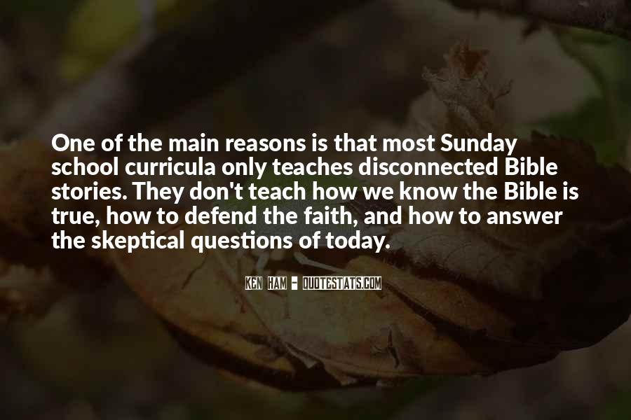 Sunday School Bible Quotes #55912