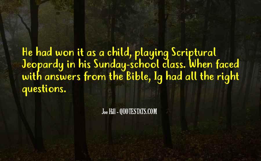 Sunday School Bible Quotes #895115