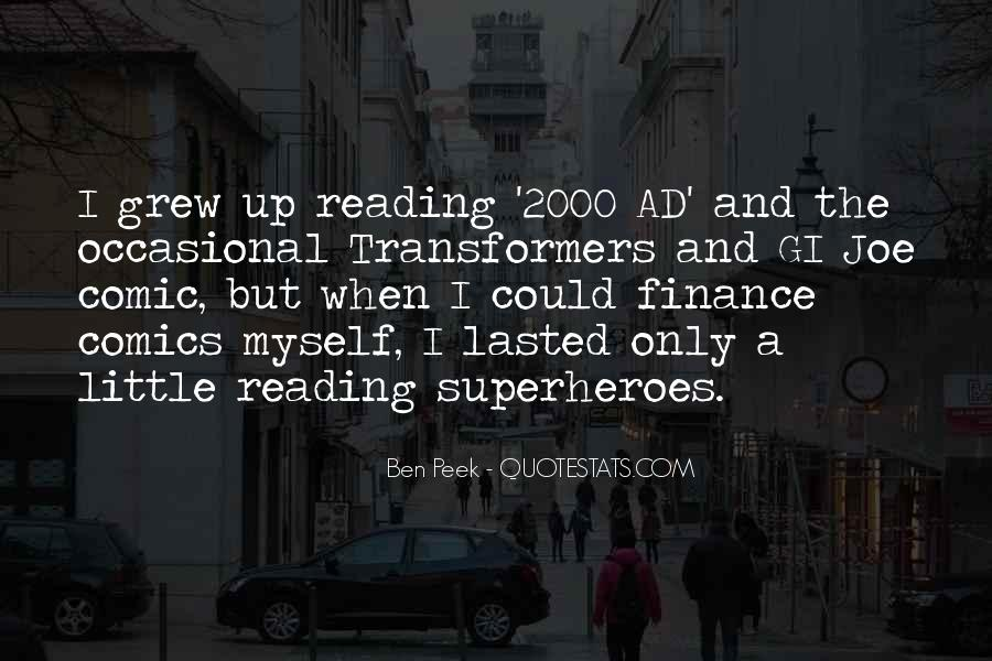 Superheroes Reading Quotes #771256