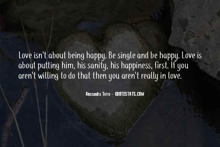 Quotes About Being In Love And Single #1476642
