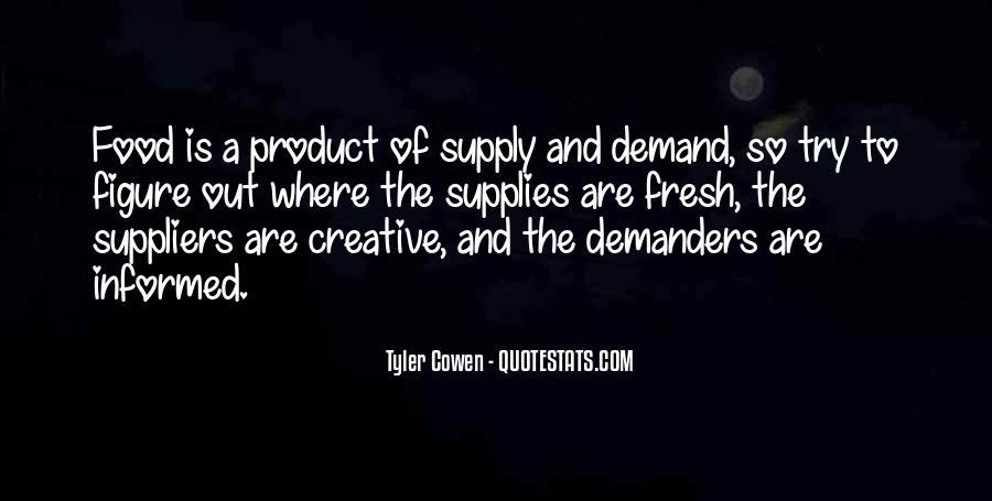 Supply And Demand Economics Quotes #897742
