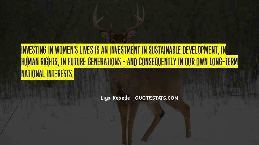 Sustainable Human Development Quotes #1759117