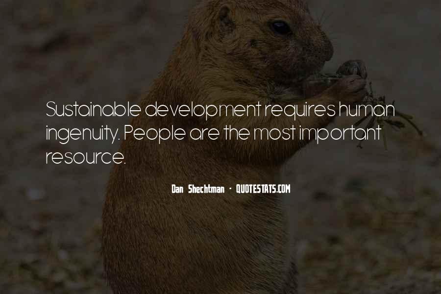 Sustainable Human Development Quotes #273446