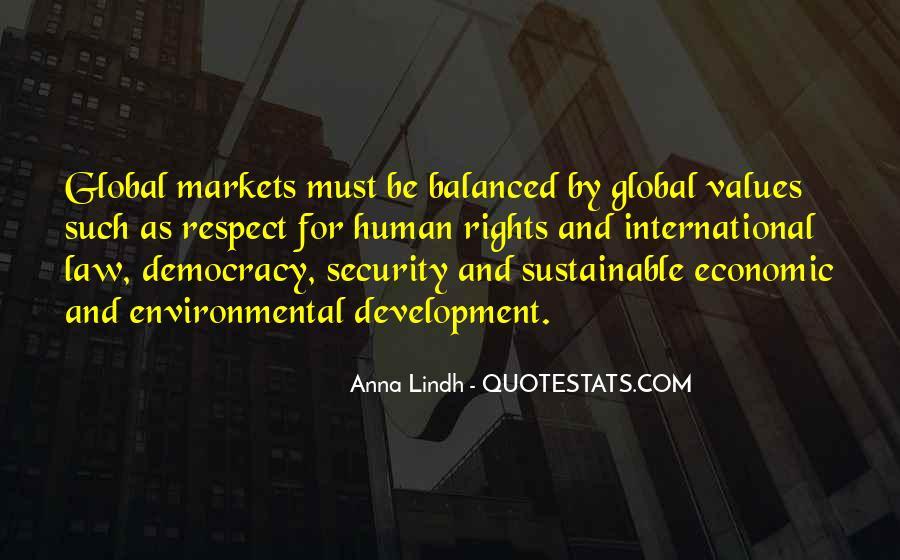 Sustainable Human Development Quotes #445033