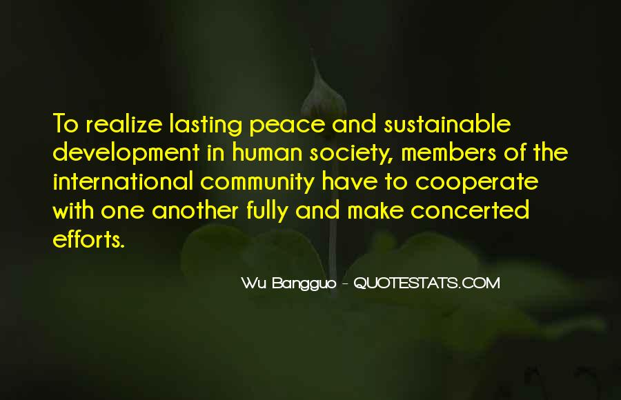 Sustainable Human Development Quotes #584999