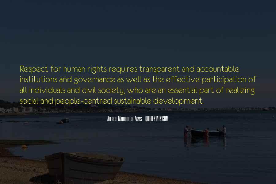 Sustainable Human Development Quotes #587947
