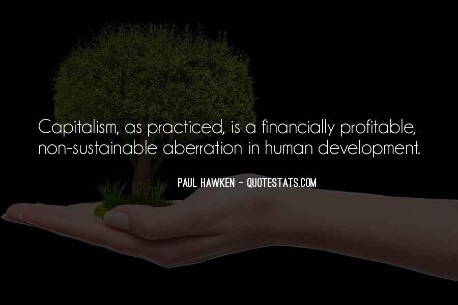 Sustainable Human Development Quotes #773232