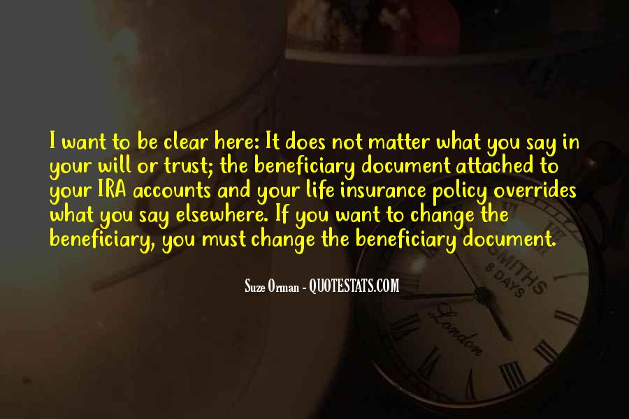 Suze Orman Insurance Quotes #264486