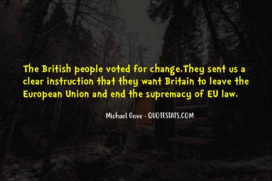 Quotes About Michael Gove #765548