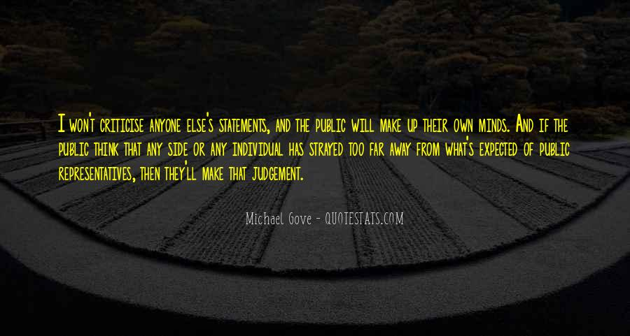 Quotes About Michael Gove #812472