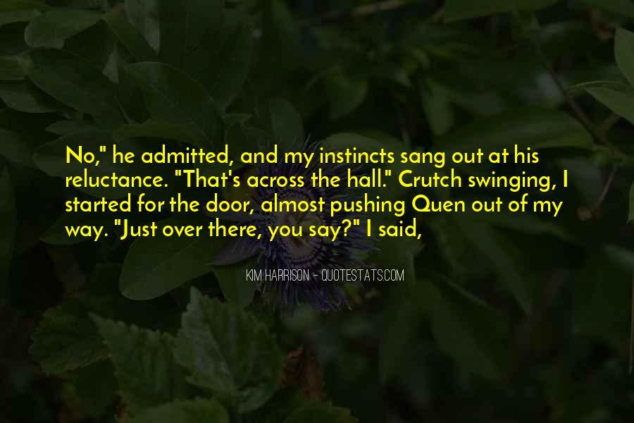 Swinging Door Quotes #490169
