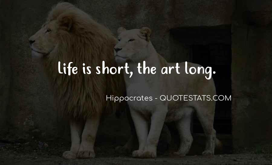 Quotes About Hippocrates #165874