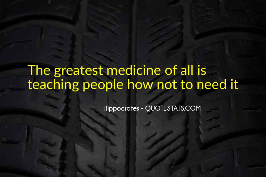 Quotes About Hippocrates #222595