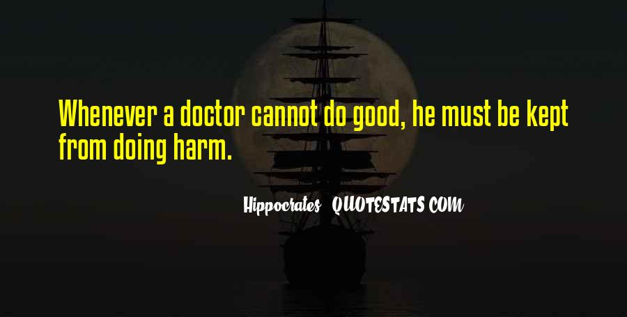 Quotes About Hippocrates #264333