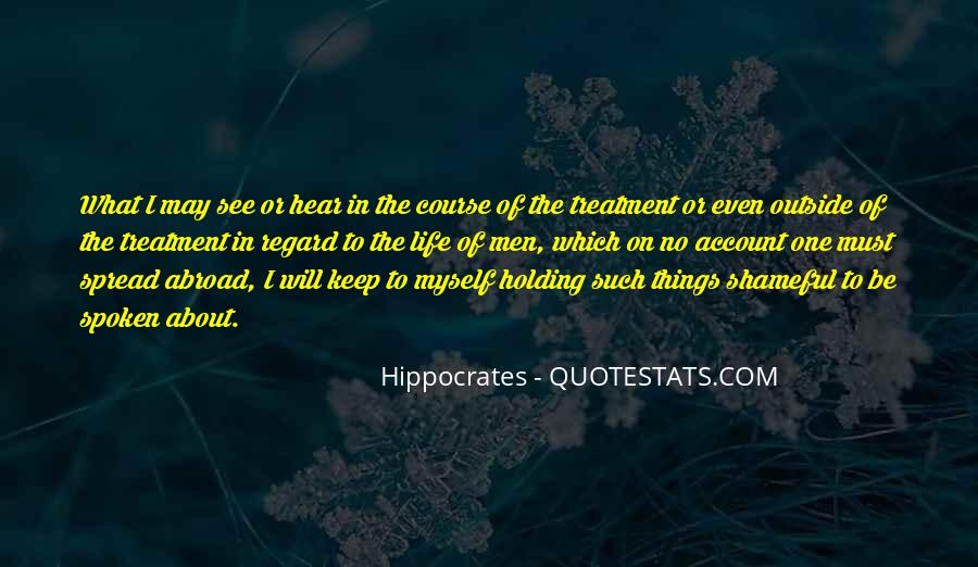 Quotes About Hippocrates #325967