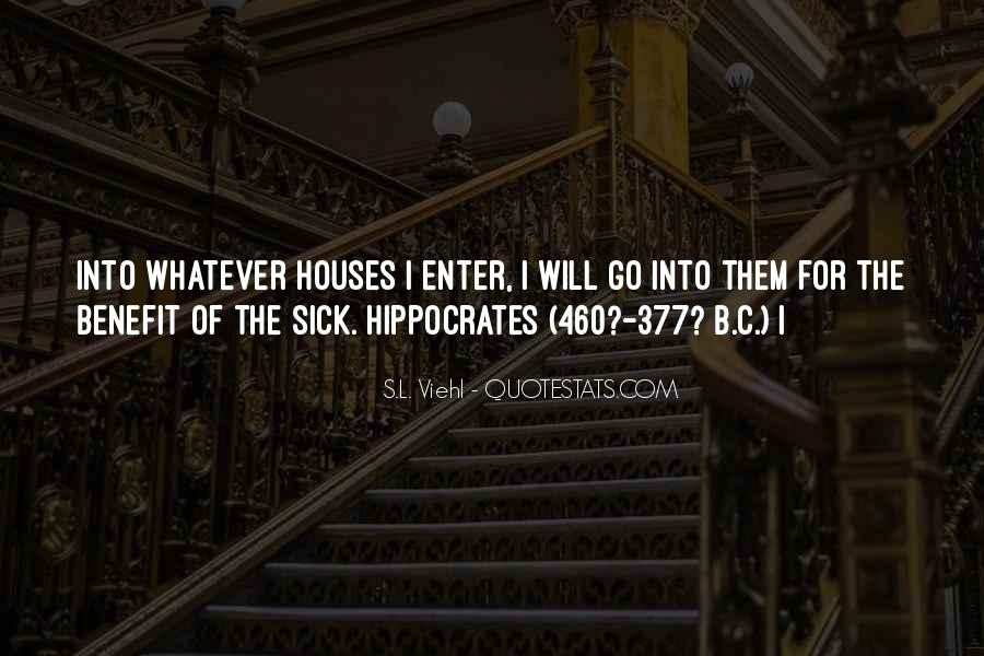 Quotes About Hippocrates #801842