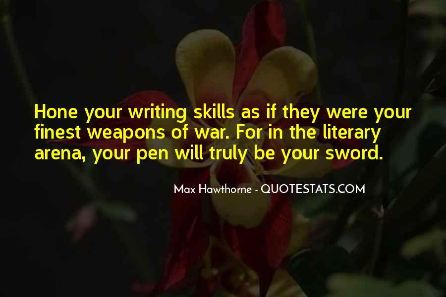 Sword And Pen Quotes #269187