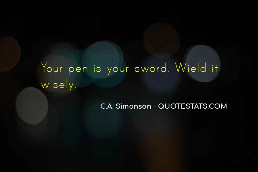 Sword And Pen Quotes #391243
