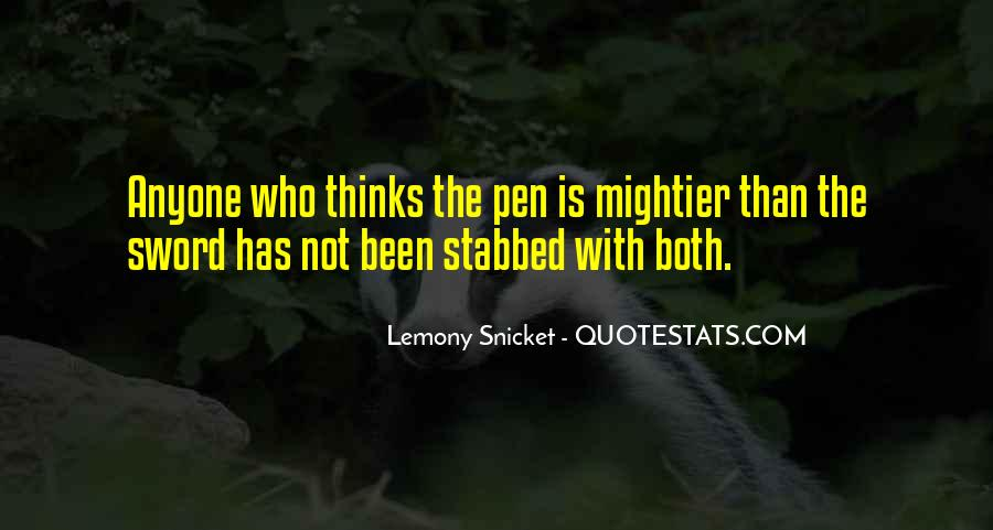 Sword And Pen Quotes #395157