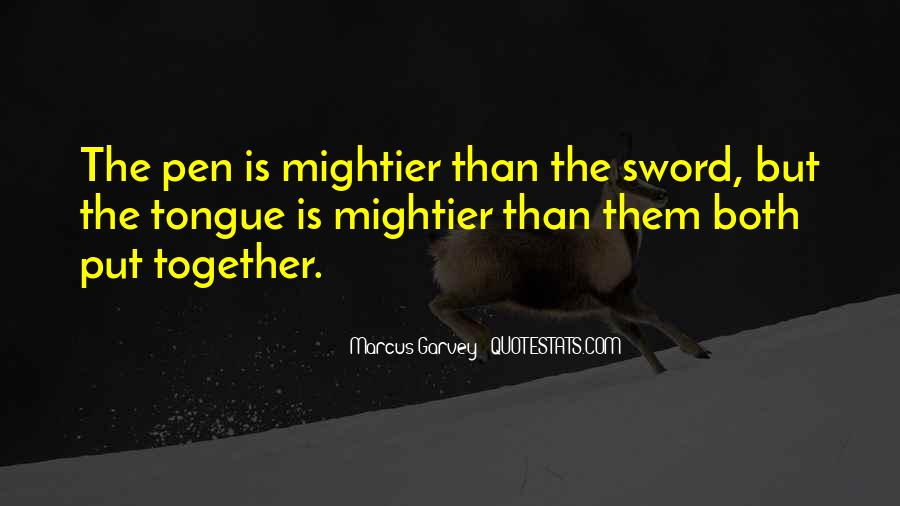 Sword And Pen Quotes #898513