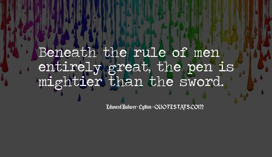 Sword And Pen Quotes #911128