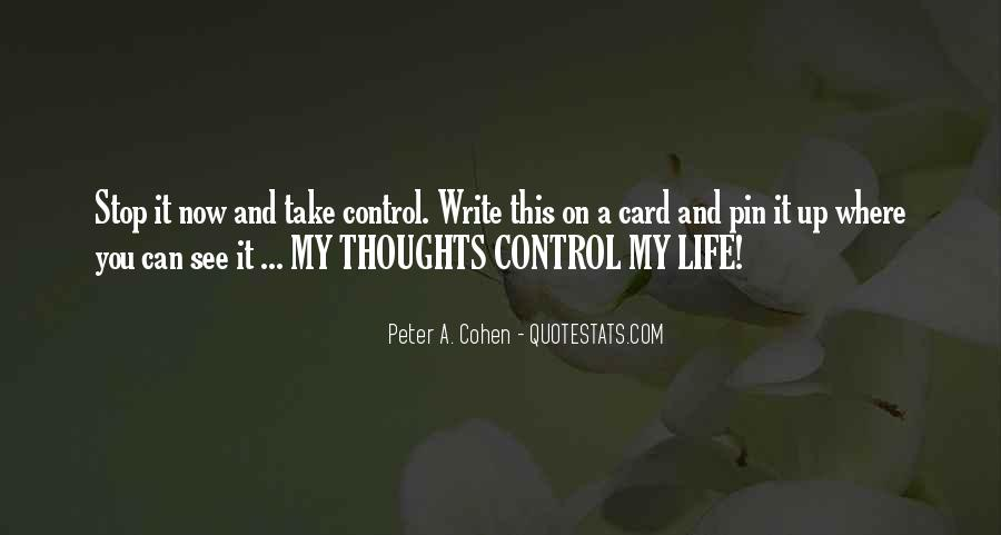 Take Control Of Your Own Life Quotes #292720